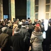 Bild vergrößern:Auf eine starke Resonanz traf das Angebot des Fördervereins Magdeburger Dommuseum, einen Rundgang durch die ehemalige Staatsbank, dem geplanten Sitz des Museums und der WOBAU-Zentrale, zu unternehmen.