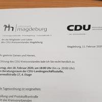Bild vergrößern:Am 18. Februar tagte der CDU-Kreisvorstand. Die aktuelle politische Lage wurde dabei intensiv diskutiert.