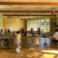 Bild vergrößern:Mitglieder des CDU-Ortsverbandes Ostelbien werteten am 07. Juli die Landtagswahl aus und bereiteten die Bundestagswahl vor.