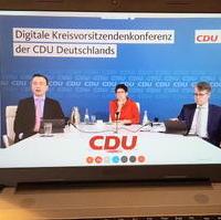 Bild vergrößern:Am 15. Mai fand die erste Digitale Kreisvorsitzendenkonferenz der CDU Deutschlands statt.