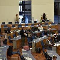 Bild vergrößern:Die Fortsetzung der Stadtratssitzung vom letzten Donnerstag (8.10.2020).