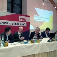 Bild vergrößern:Sitzung des CDU-Landesvorstandes am 28. Januar in Magdeburg