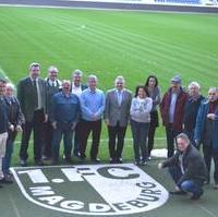 Bild vergrößern:Die Fraktion CDU/FDP/BfM besuchte gestern (04.03) die MDCC - Arena. Der Geschäftsführer Steffen Schüller (Messe- und Veranstaltungsgesellschaft Magdeburg GmbH) informierte die Ratsfraktion über die aktuellen Umbaumaßnahmen im Stadion. Im April 2018 beschloss der Stadtrat mit Stimmen der Fraktion CDU/FDP/BfM den Umbau der Arena.