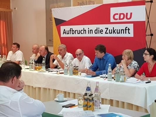 Sitzung des CDU-Landesvorstandes am 24. Juni dieses Jahres im Roncalli-Haus Magdeburg.