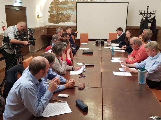 Sitzung des CDU-Ortsverbandes Mitte, am 24. September 2019, mit medialer Begleitung.