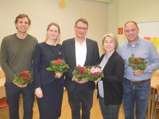 Der neue Vorstand des CDU-Ortsverbandes Ostelbien mit Stadtrat Manuel Rupsch (m.) als neugewählten Vorsitzenden an der Spitze. Die Neuwahl fand am 27. November statt.
