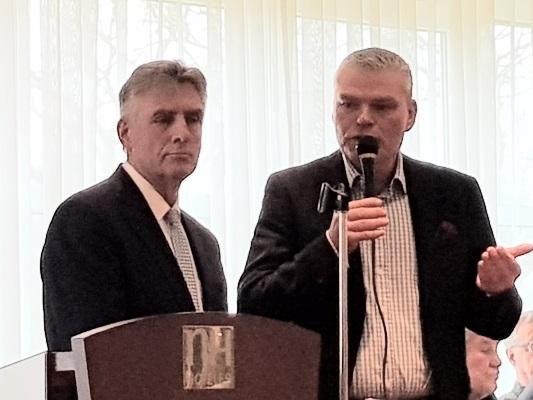 Beim Neujahrsempfang der CDU Barleben der Ortsverbandsvorsitzende Manfred Behrens MdB und der CDU-Landesvorsitzende Holger Stahlknecht MdL (v.l.n.r.).