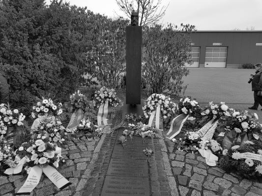 Gedenken am ehemaligen KZ-Lager MAGDA am 27. Januar 2020, dem Internationalen Tag der Opfer des Nationalsozialismus
