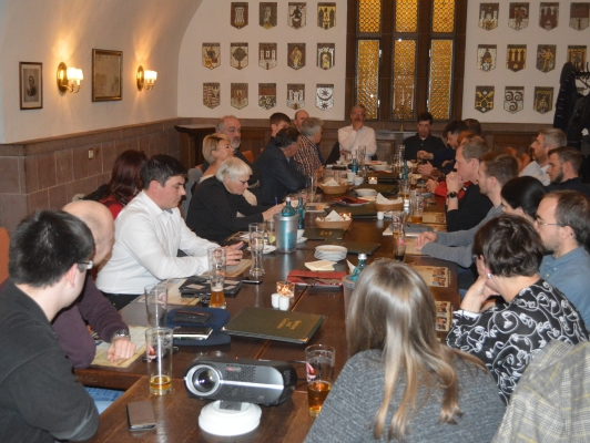 Am 26. Februar trafen sich die Mitglieder des CDU-Ortsverbandes Mitte zu ihrer monatlichen Sitzung, diesmal im Ratskeller.