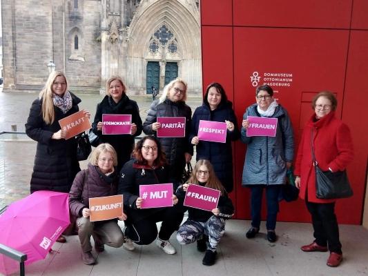 Am 10. März führte die Frauen Union Magdeburg eine besonderen Stadtspaziergang auf den Spuren von Frauen in der Stadtgeschichte durch.