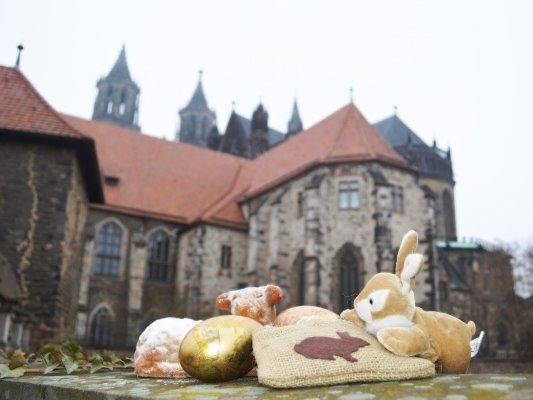 Ostergruß mit Magdeburger Dom