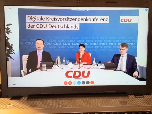 Am 15. Mai fand die erste Digitale Kreisvorsitzendenkonferenz der CDU Deutschlands statt.