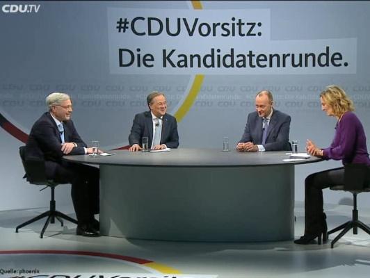 Am 08. Januar fand das zweite Kandidatenduell um den CDU-Vorsitz online statt.