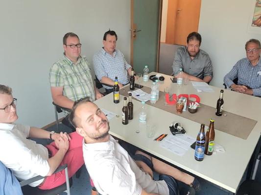 Einige der Teilnehmer des Stammtisch der Christlich Demokratischen Arbeitnehmerschaft Magdeburg am 08. Juli 2021.
