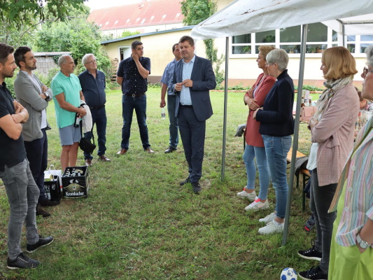 Der CDU-Landesvorsitzende Sven Schulze MdEP war Gast beim Sommerfest des CDU-Ortsverbandes Am Neustädter Feld am 08. Juli 2021.