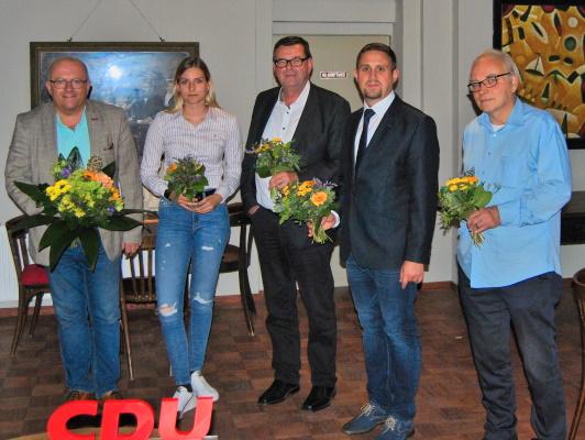 Der neue Vorstand des CDU-Ortsverbandes Sudenburg/Friedenshöhe der am 28. September gewählt wurde.